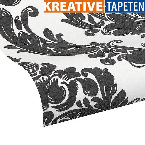 Barock tapete schwarz barock tapete stil aus alten zeiten for Balkon teppich mit versace tapete blätter