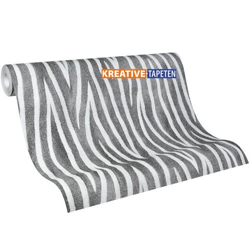 Tapete zebra tiere 3 18 m vliestapete mit optik for Zebra tapete