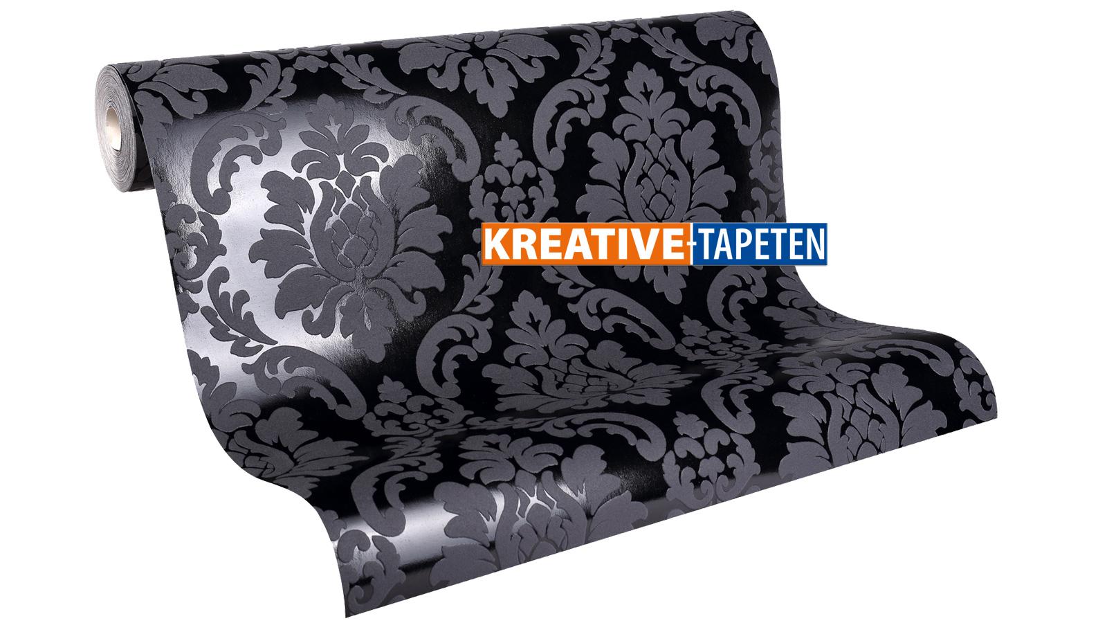 stilvolle tapeten schwarz wei bild erindzain. Black Bedroom Furniture Sets. Home Design Ideas